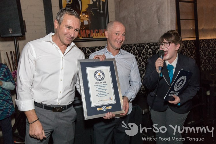 The Whiskey House San Diego breaks the Guinness World Record for most whiskeys