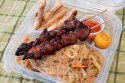 Filipino BBQ Skewers, Lumpia, and Pancit Noodles